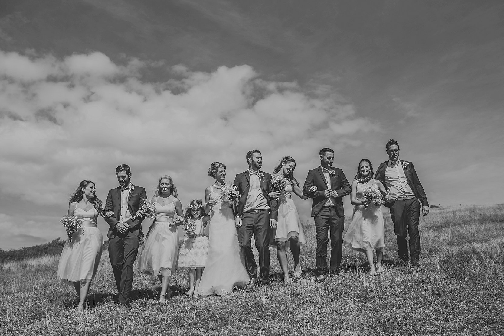 Beautiful, relaxed wedding photography at Langdon Court Hotel in Devon and Wembury Church and Wembury Beach