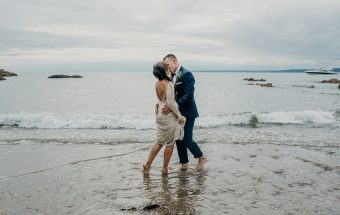 POLHAWN FORT WEDDING PHOTOGRAPHY - a romantic Cornish wedding by the sea